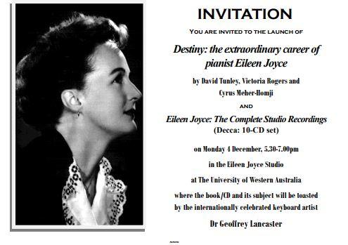 Eileen Joyce Launch